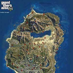 GTA 5 Mappa Letter Scraps