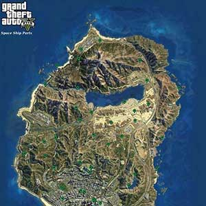 GTA 5 XBOX ONE Map Space Ship Alien