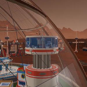 Costruzione futuristica della cupola spaziale