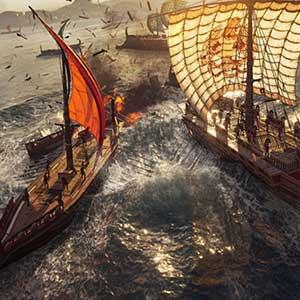 Naviga attraverso il mare Egeo
