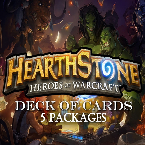 Acquista Gamecard Code Hearthstone Deck Of Cards Pack 5 Confronta Prezzi