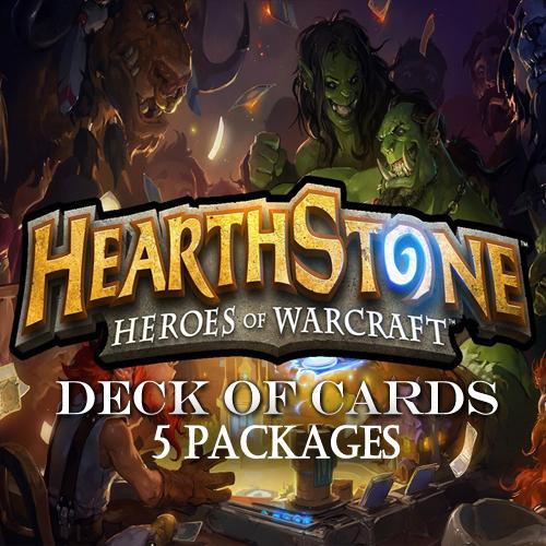 Acquista Gamecard Code Hearthstone Deck Of Cards Pack 5 Confronta Prezzi