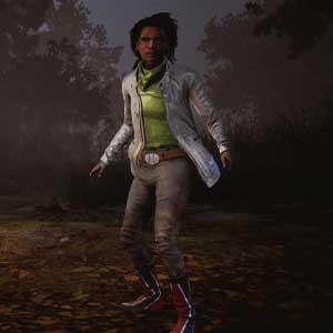 Dead By Daylight: Claudette con giacca elettrica e stivali rossi in flash
