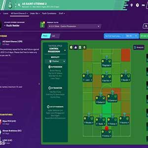 Football Manager 2020 Squadra della partita