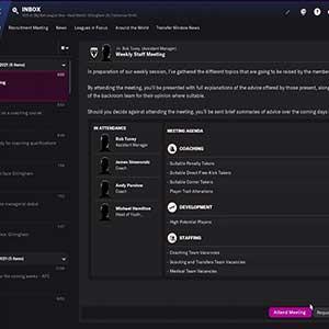 Football Manager 2022 Riunione Settimanale Dello Staff