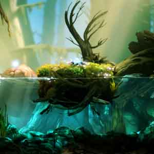 Ori and the Blind Forest Galleggiando sull'acqua