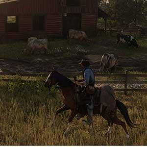 Red Dead Redemption 2 a cavallo