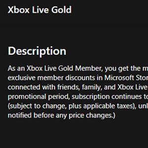 Xbox Live Gold Membership 12 Months Subscription Descrizione