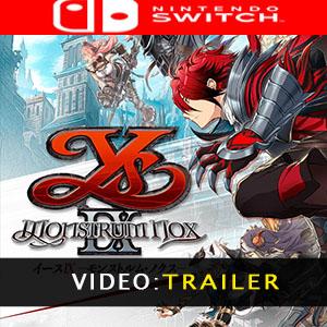 Ys IX Monstrum Nox Nintendo Switch Video Trailer